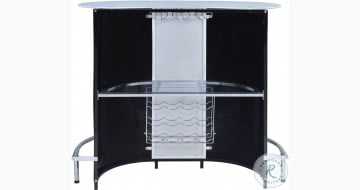 100654 Black and White Bar Table