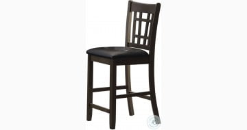 Lavon Black Counter Height Stool Set Of 2