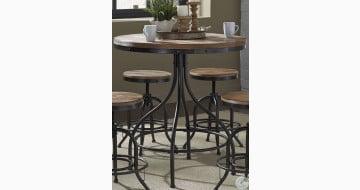 Vintage Weathered Gray Pub Table