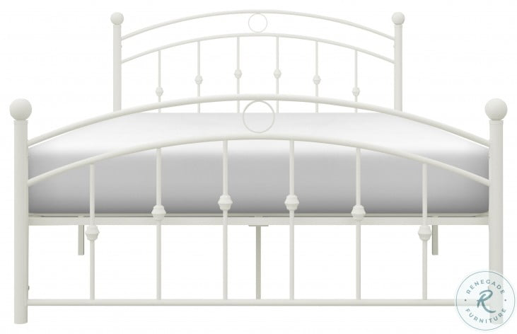 Tiana White Full Metal Poster Bed
