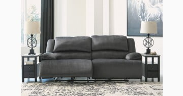 Clonmel Charcoal 2 Seat Power Reclining Sofa
