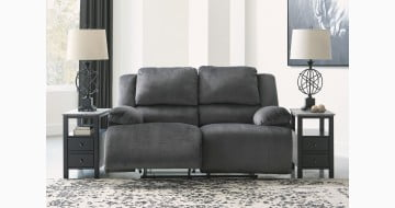 Clonmel Charcoal Power Reclining Loveseat