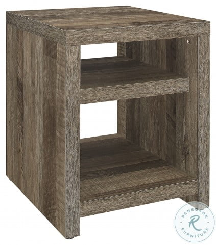 Danio Rustic Natural End Table