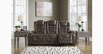 Game Zone Bark Power Reclining Sofa with Adjustable Headrest