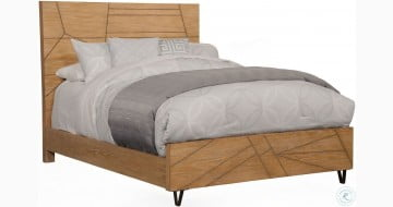 Trapezoid Cerused Wheat King Platform Bed