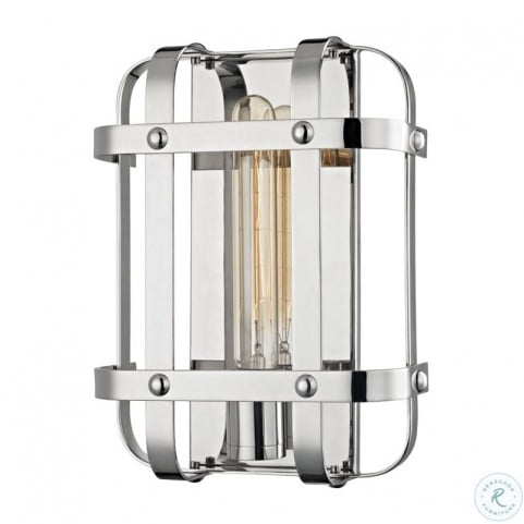 Colchester Polished Nickel 1 Light Wall Sconce