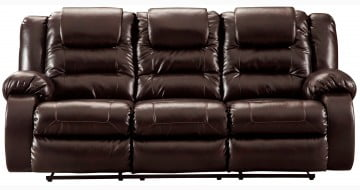 Vacherie Chocolate Reclining Sofa