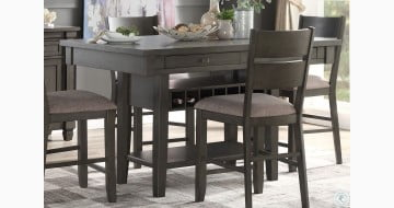 Baresford Gray Counter Height Dining Table