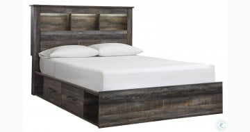 Drystan Multi Bookcase Panel Bed with Two Underbed Storage