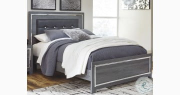 Lodanna Gray Panel Upholstered Bed