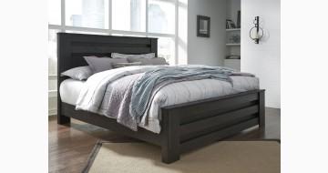 Brinxton Charcoal Gray Panel Bed