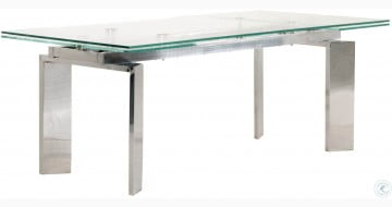 Chrono Stainless Steel Extendable Dining Table