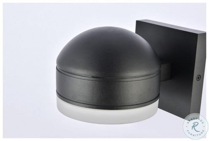 LDOD4015BK Raine Black Round Outdoor Wall Light
