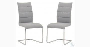 Regis Lido Ash Grey Dining Chair Set of 2
