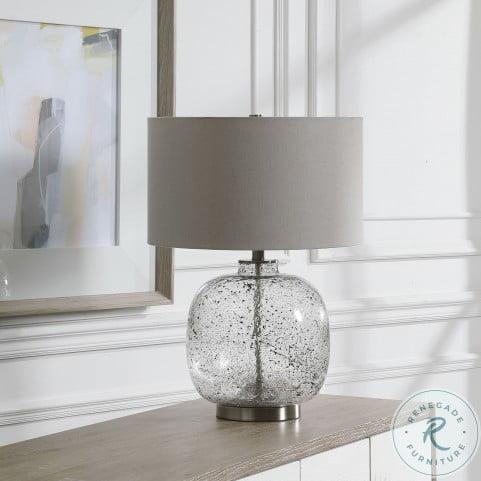 Storm Black Glass Table Lamp