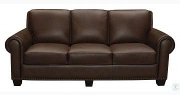 Roselake Brown Leather Sofa