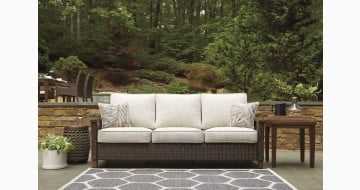 Paradise Trail Medium Brown Outdoor Sofa with Cushion