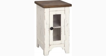 Wystfield White and Brown Chair Side Table