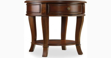 Brookhaven Cherry Finish Round Lamp Table