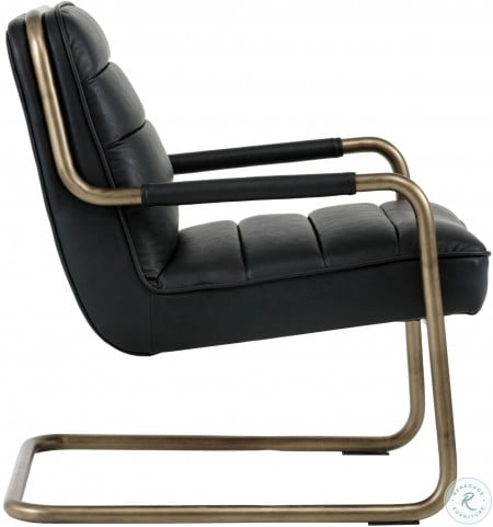 Irongate Lincoln Vintage Black Lounge Chair