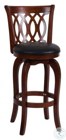 Shapel Dark Cherry Swivel Pub Chair Set of 2