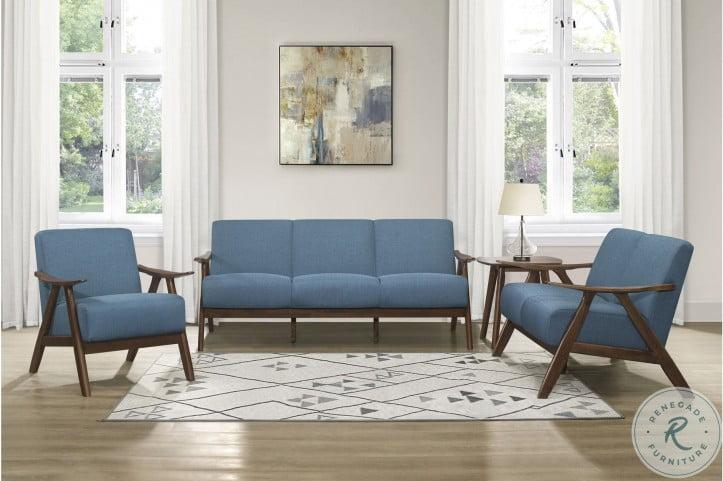 Damala Blue Living Room Set