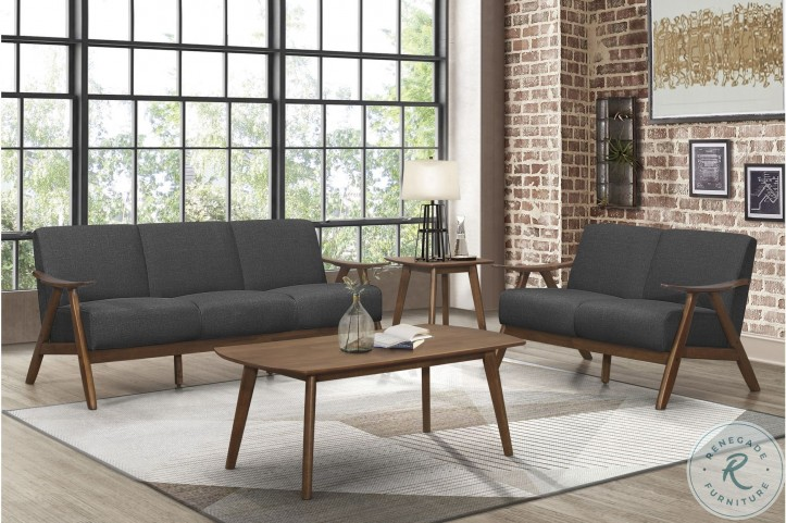Damala Dark Gray Living Room Set