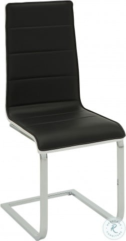 120948 Black and White Side Chair Set of 4