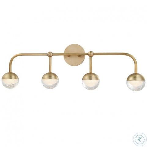 1244 Agb Boca Aged Brass Led Bath Bracket