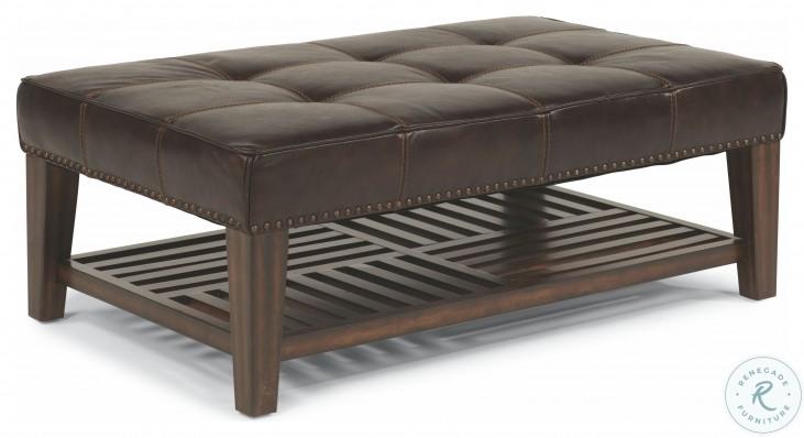 Port Royal Brown Leather Living Room Set