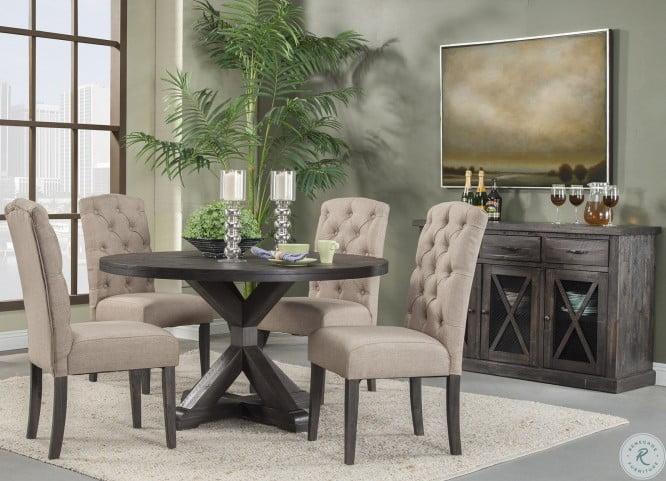 Newberry Grey Round Dining Room Set
