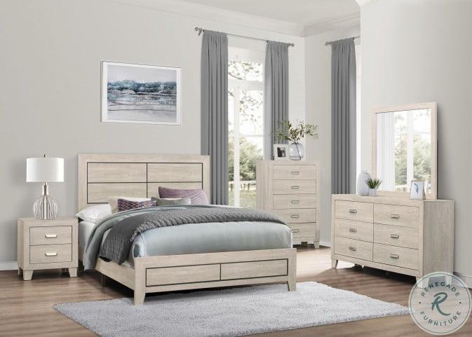 Quinby Light Brown Panel Bedroom Set
