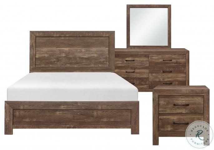 Corbin Rustic Brown Cal. King Bed In A Box
