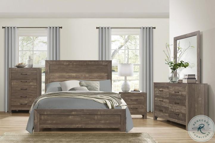 Corbin Rustic Brown Bedroom Set