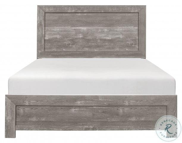 Corbin Gray Cal. King Panel Bed In A Box