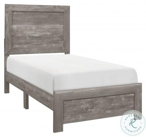 Corbin Gray Twin Panel Bed In A Box