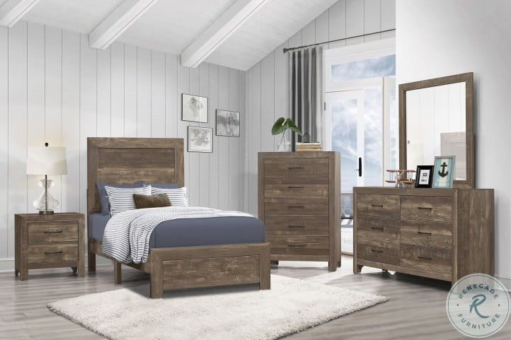 Corbin Rustic Brown Youth Bedroom Set