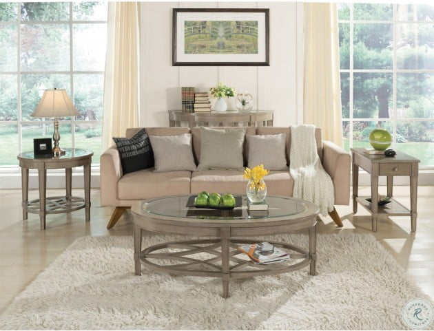 Parkdale Dove Grey Round End Table