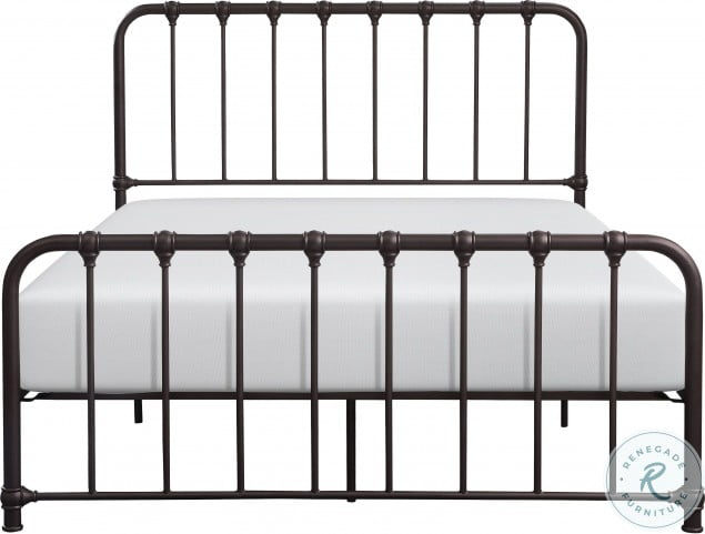 Bethany Dark Bronze Full Metal Bed In A Box