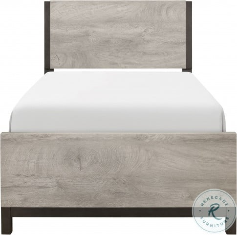 Zephyr Brown Twin Panel Bed