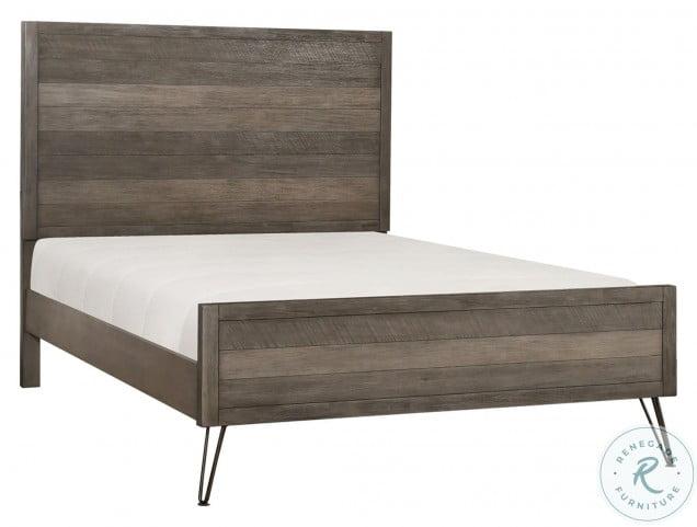 Urbanite 3 Tone Gray Full Panel Bed