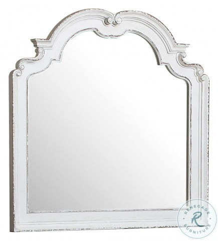 Willowick Antique White And Brown Cherry Mirror