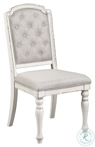 Willowick Antique White Tufted Side Chair Set Of 2
