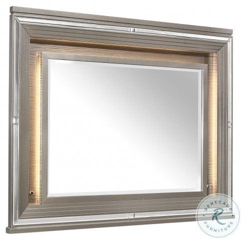 Tamsin Silver Gray Metallic Mirror