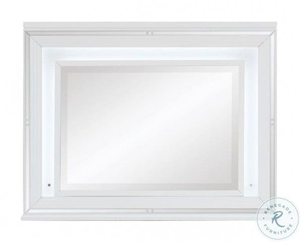 Tamsin White Metallic Mirror