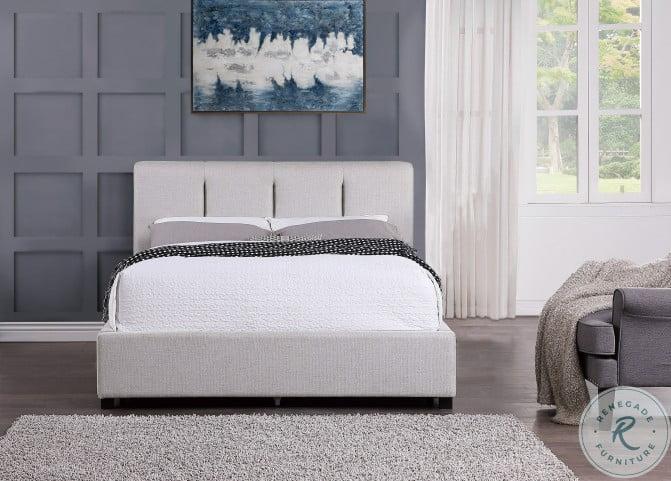 Aitana Gray Full Upholstered Platform Bed With Storage Drawer
