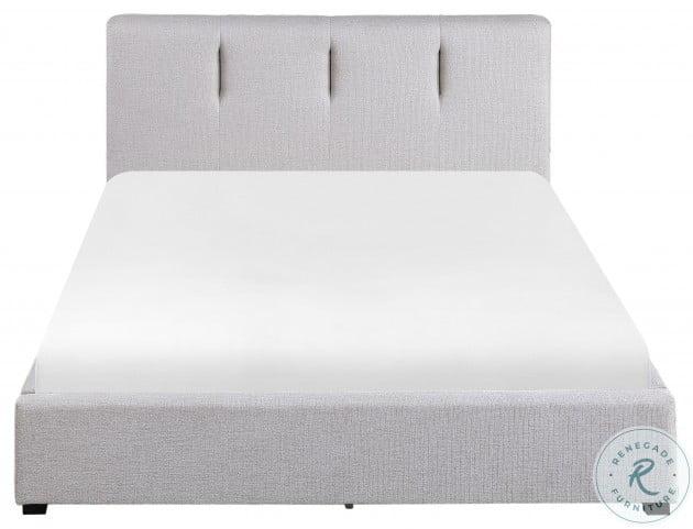 Aitana Gray Full Upholstered Platform Bed