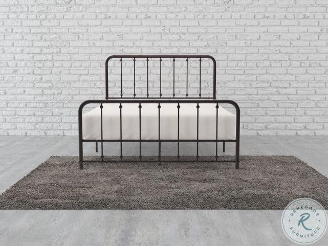 Larkspur Dark Bronze Twin Metal Panel Bed
