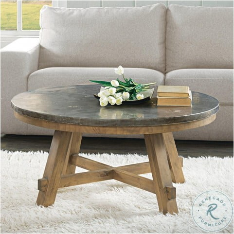 Weatherford Bluestone Round Cocktail Table