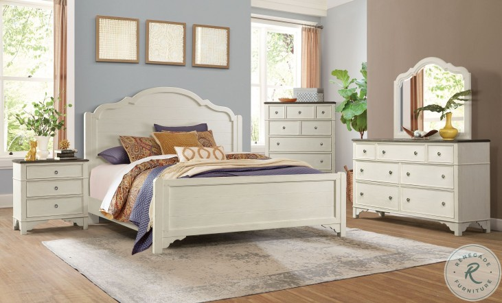 Grand Haven Feathered White And Rich Charcoal 3 Drawer Nightstand